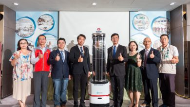 Photo of CJCU's SHS collaborates with GEOSAT to develop Smart Mobile Disinfection Robot