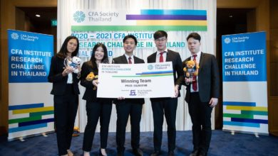 Photo of Thammasat Business School students win first prize at CFA Research Challenge in Thailand