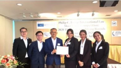 Photo of Law students of Thammasat University win awards at the national round of Phillip C. Jessup Law Moot Competition 2021