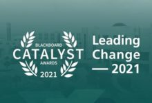 Photo of IAU's Deanship of eLearning bagged the Blackboard Catalyst Award 2021 for Leading Change